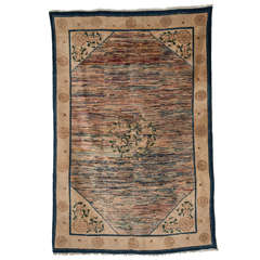 Antique Chinese Rug with Abstract Design