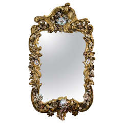 Rare Continental Rococo Mirror