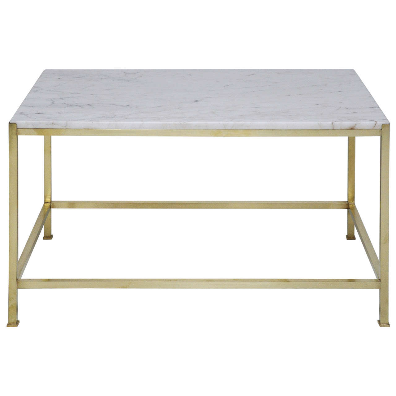 Brass And Marble Coffee Table By Harvey Probber 1