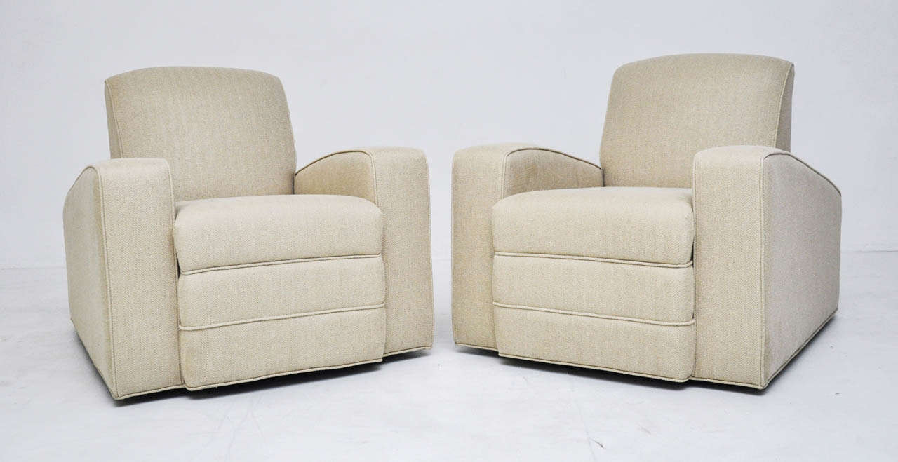 Art deco lounge chairs at 1stdibs - Deco lounge oud en modern ...