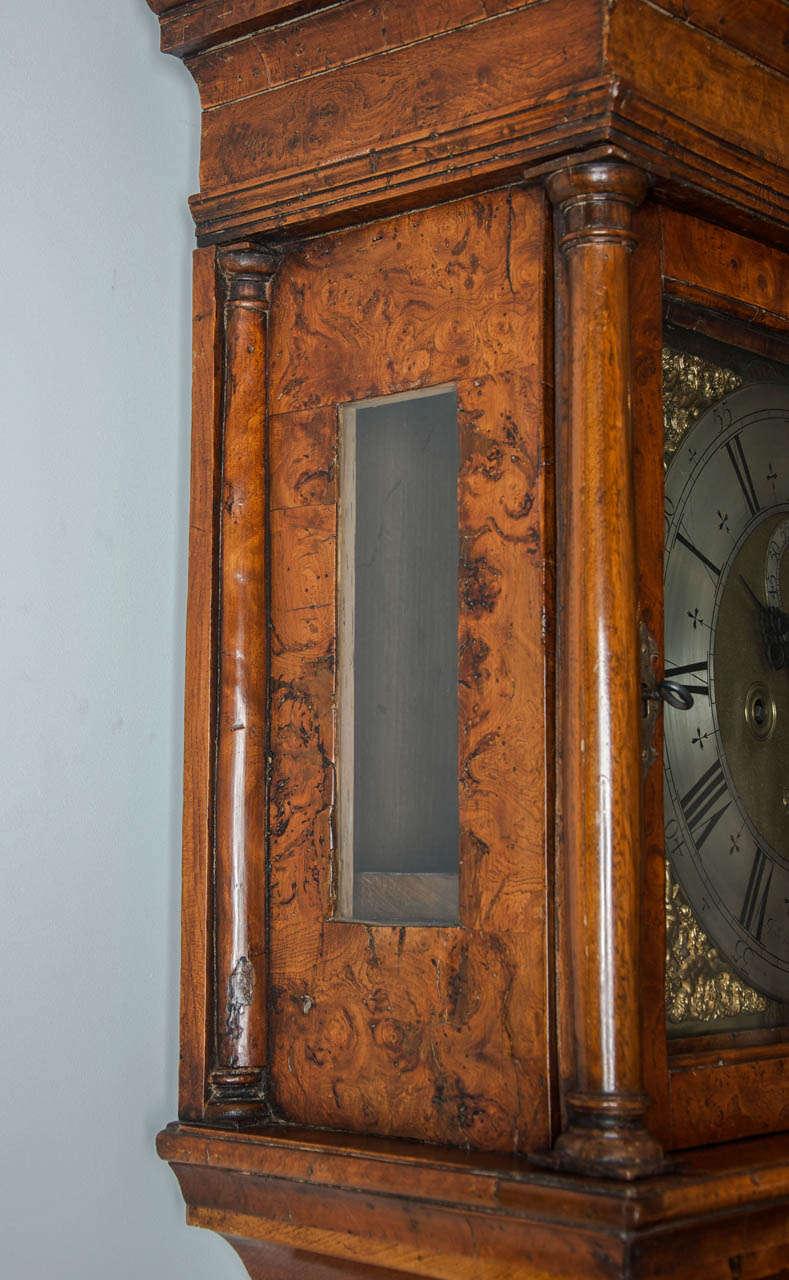George II burr-yew longcase clock by John Stephens, London