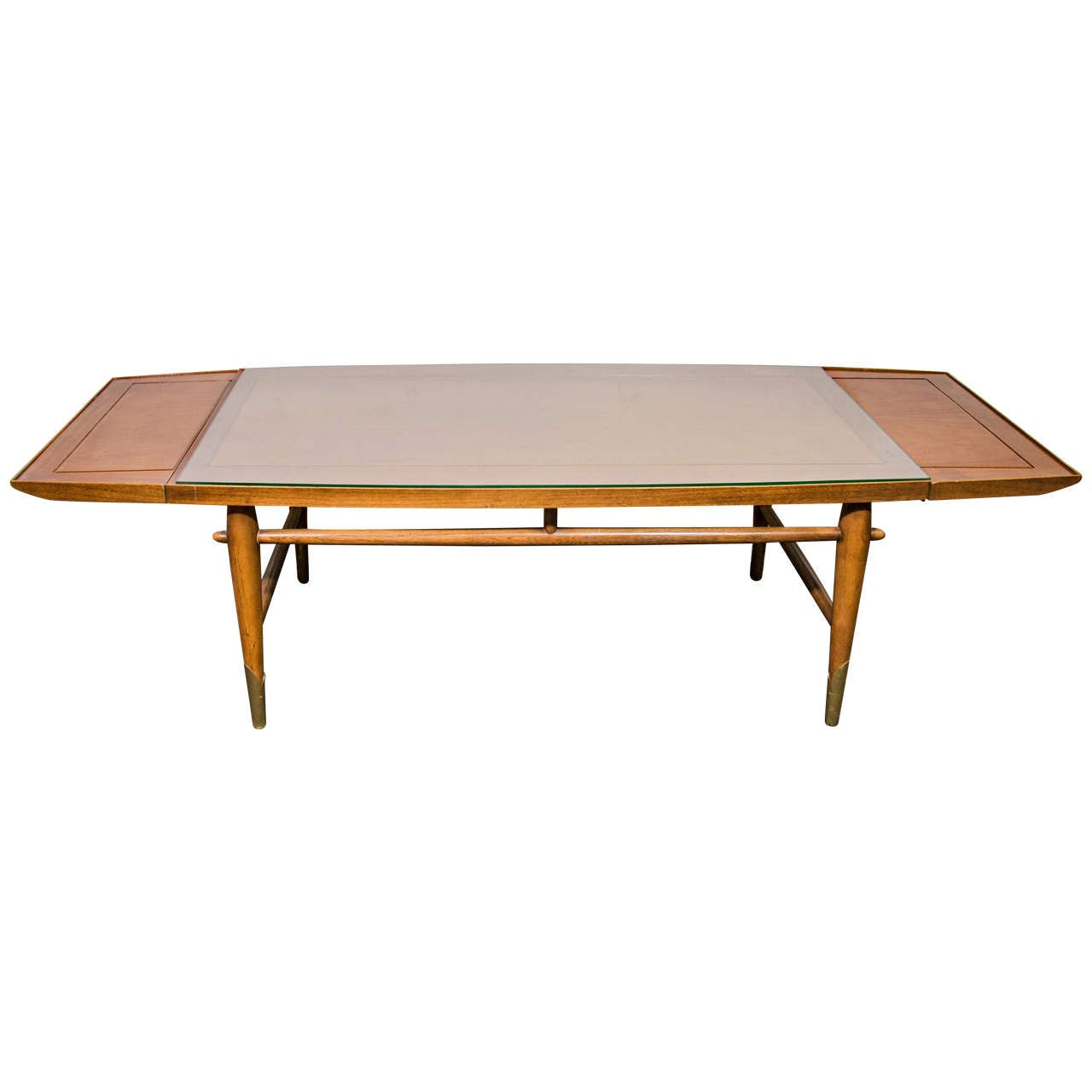 Midcentury Drop Leaf Wooden Coffee Or Cocktail Table With