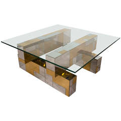 A Paul Evans Cityscape Patchwork Coffee and Cocktail Table