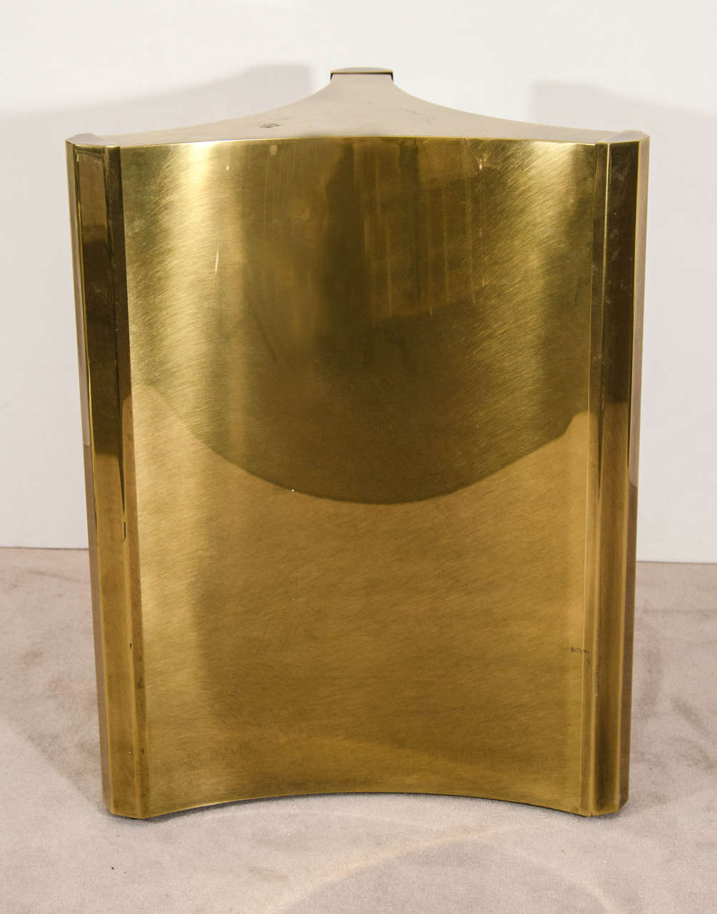 Mastercraft brass dining table - Midcentury Pair Of Brass Triangulate Dining Table Bases By Mastercraft 2