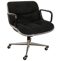Midcentury Charles Pollock for Knoll Executive Chair with Original Label