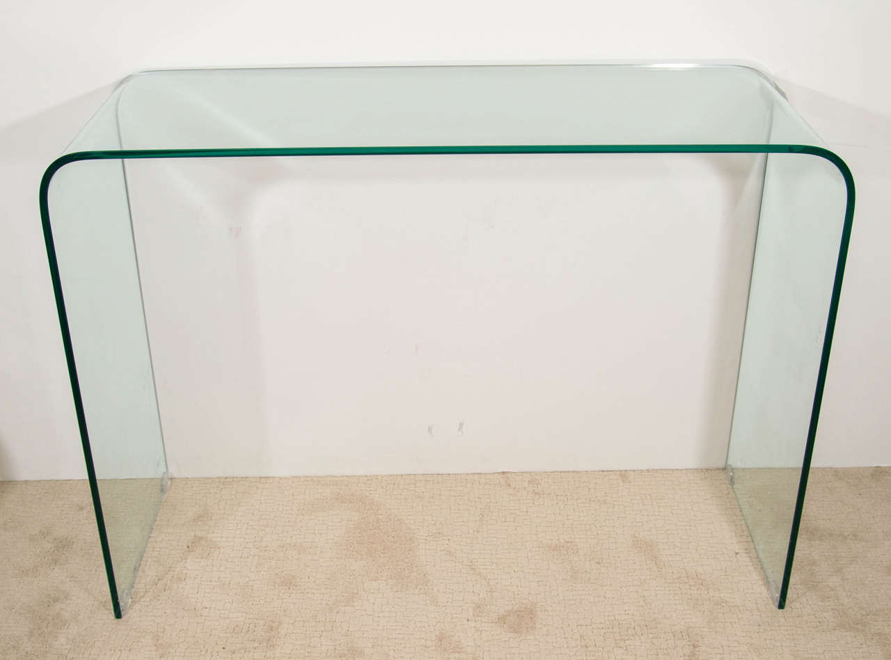 Contemporary sofa tables glass - Modern Glass Waterfall Console Or Sofa Table At Stdibs