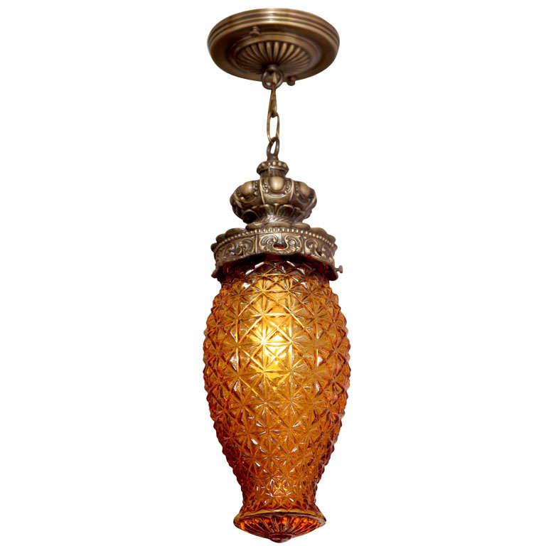Antique Amber Ceiling Pendant France Elegant Entrance SALE FROM $1700