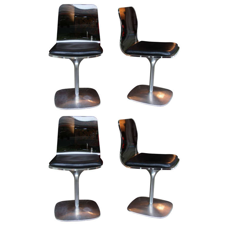 Four 1970s Swiveling Chairs At 1stdibs