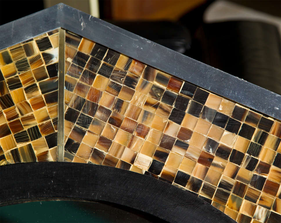 Bone & Tortoise Shell Octagonal Mirrors By Anthony Redmile 3