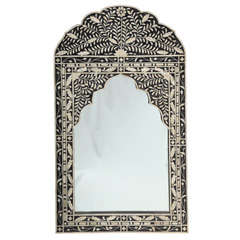Moroccan Mirror with Bone Inlay