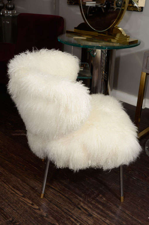 Custom Mongolian Lamb Chair For Sale At 1stdibs