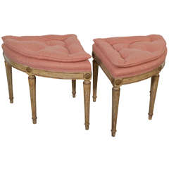 French Demi Lune Stools