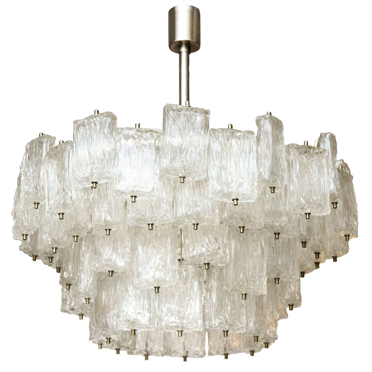 Monumental Signed Barovier e Toso Murano Glass Chandeliers at 1stdibs