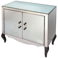 Mirrored two doors chest of drawer 1940-50