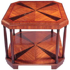 A Rosewood Art Deco Side  Or Coffee Table.