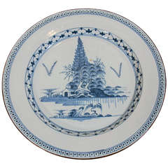 An 18th Century English Blue and White Delft Charger