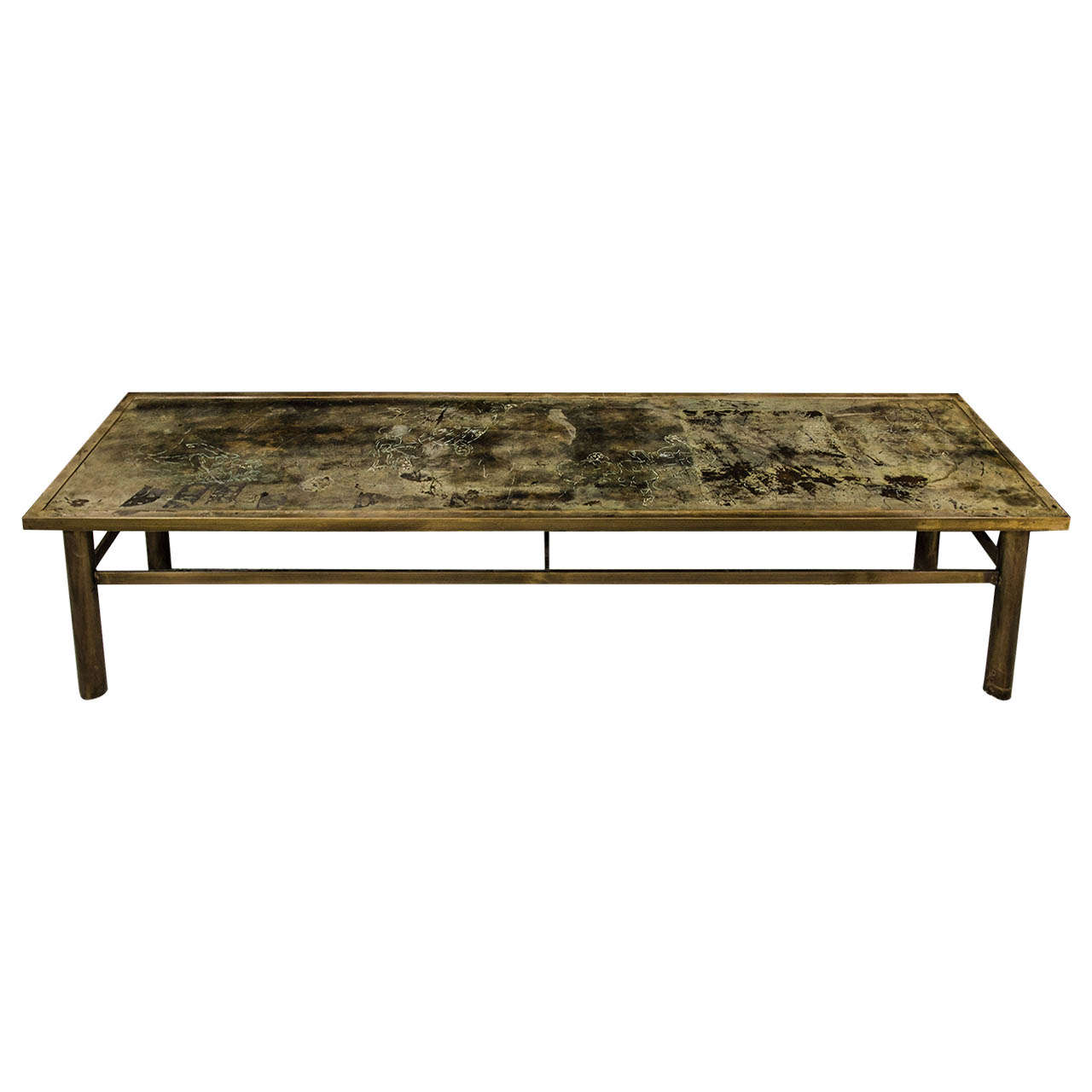 Laverne bronze coffee table michelangelo at 1stdibs Bronze coffee tables