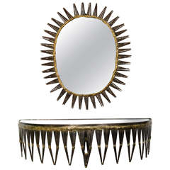 Curtis Jere console and mirror