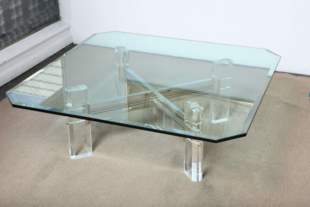 Charles Hollis Jones Lucite Square Coffee Table At 1stdibs