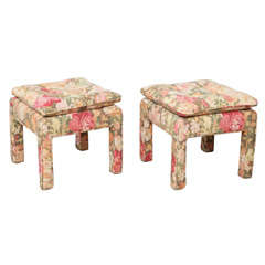 Pair of beautiful Square Ottomans
