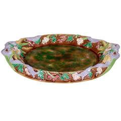 C.1872 George Jones Rare Colors English Majolica Platter