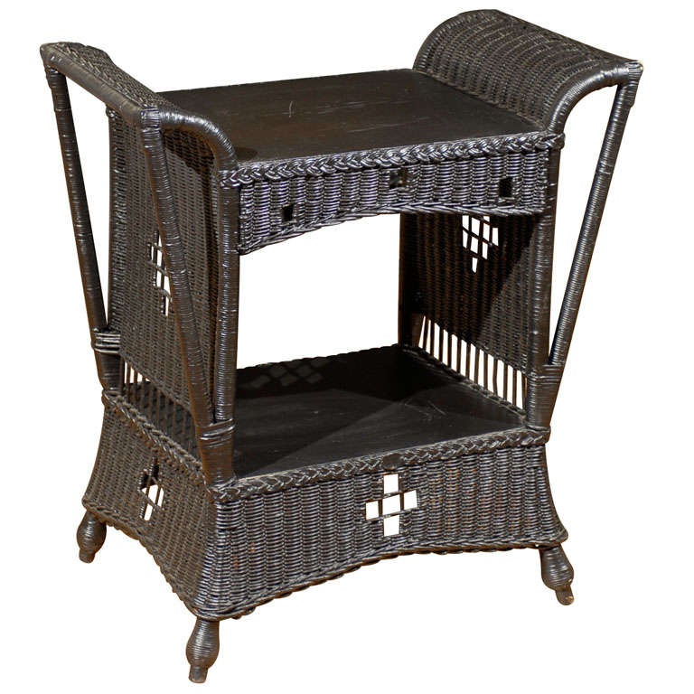 American stickley style wicker table for sale at for American rattan furniture manufacturer