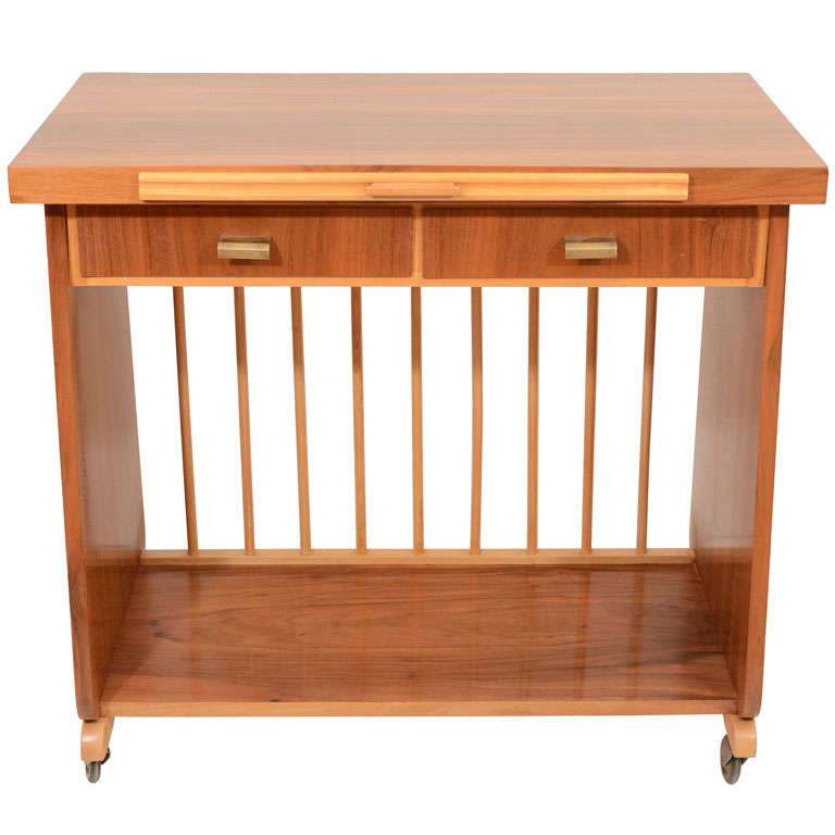 Mid Century Rolling Bar Cart For Sale At 1stdibs