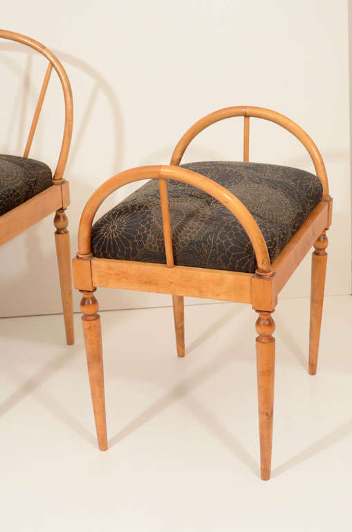 Set of Eight Art Deco Dining Chairs In Good Condition For Sale In New York, NY