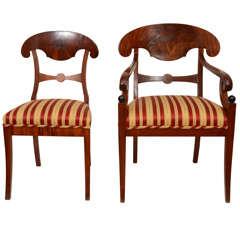 Set of Eight  Biedermeier Dining Chairs