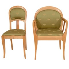 Set of Six Jugend Stil Chairs