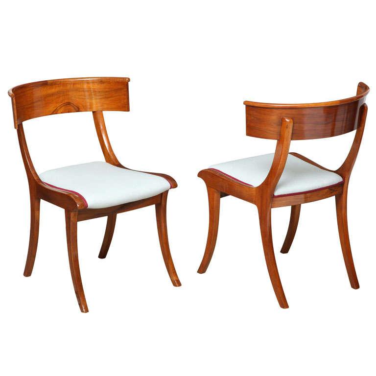 Danish Klismos Chairs at 1stdibs