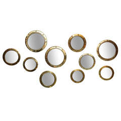 Grouping of Ten (10) English Convex Porthole Mirrors