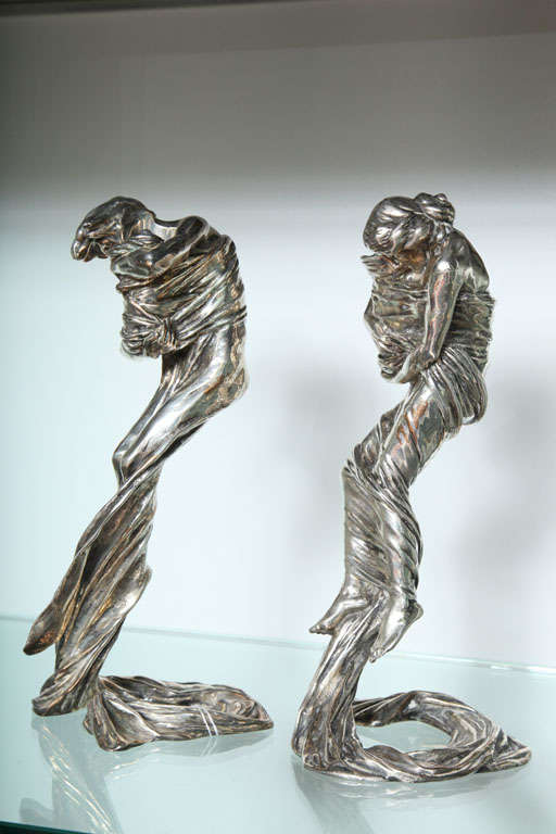 Pair of Candlesticks by Gustav Gurschner In Excellent Condition For Sale In Englewood, NJ