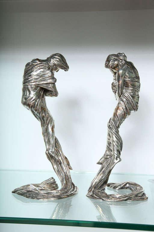 Pair of Candlesticks by Gustav Gurschner For Sale 1