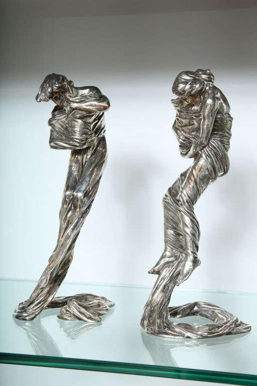 Pair of Candlesticks by Gustav Gurschner For Sale 2