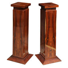 French Art Deco Rosewood Display Pedestals