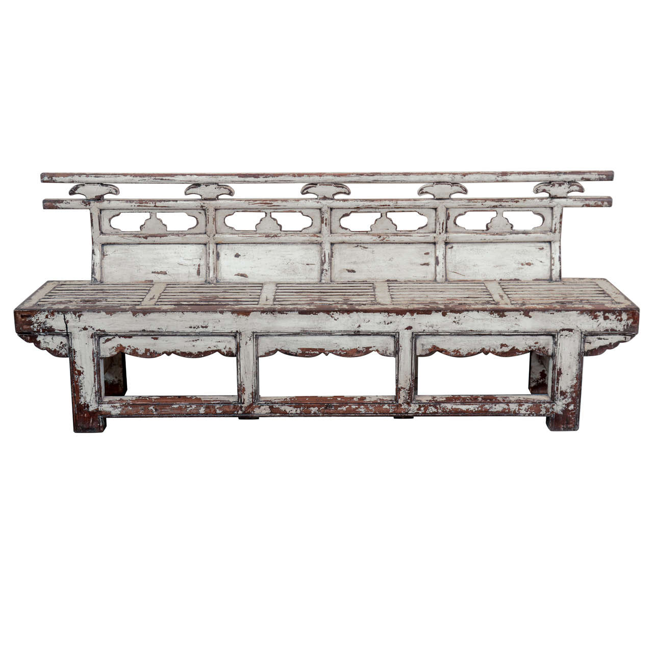 Antique Chinese Weathered Theater Bench For Sale At 1stdibs