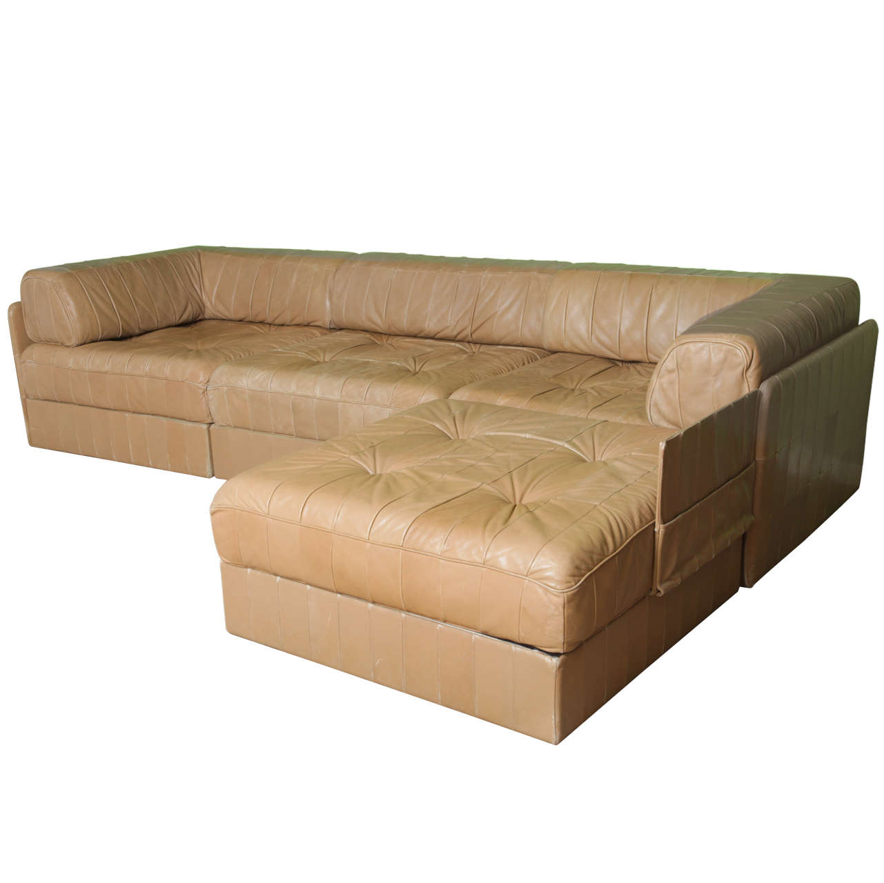 Leather cognac de sede comfortable living room set 39 70 39 s for 70s living room furniture