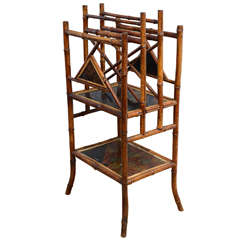 19th century English Bamboo Canterbury or Magazine Rack