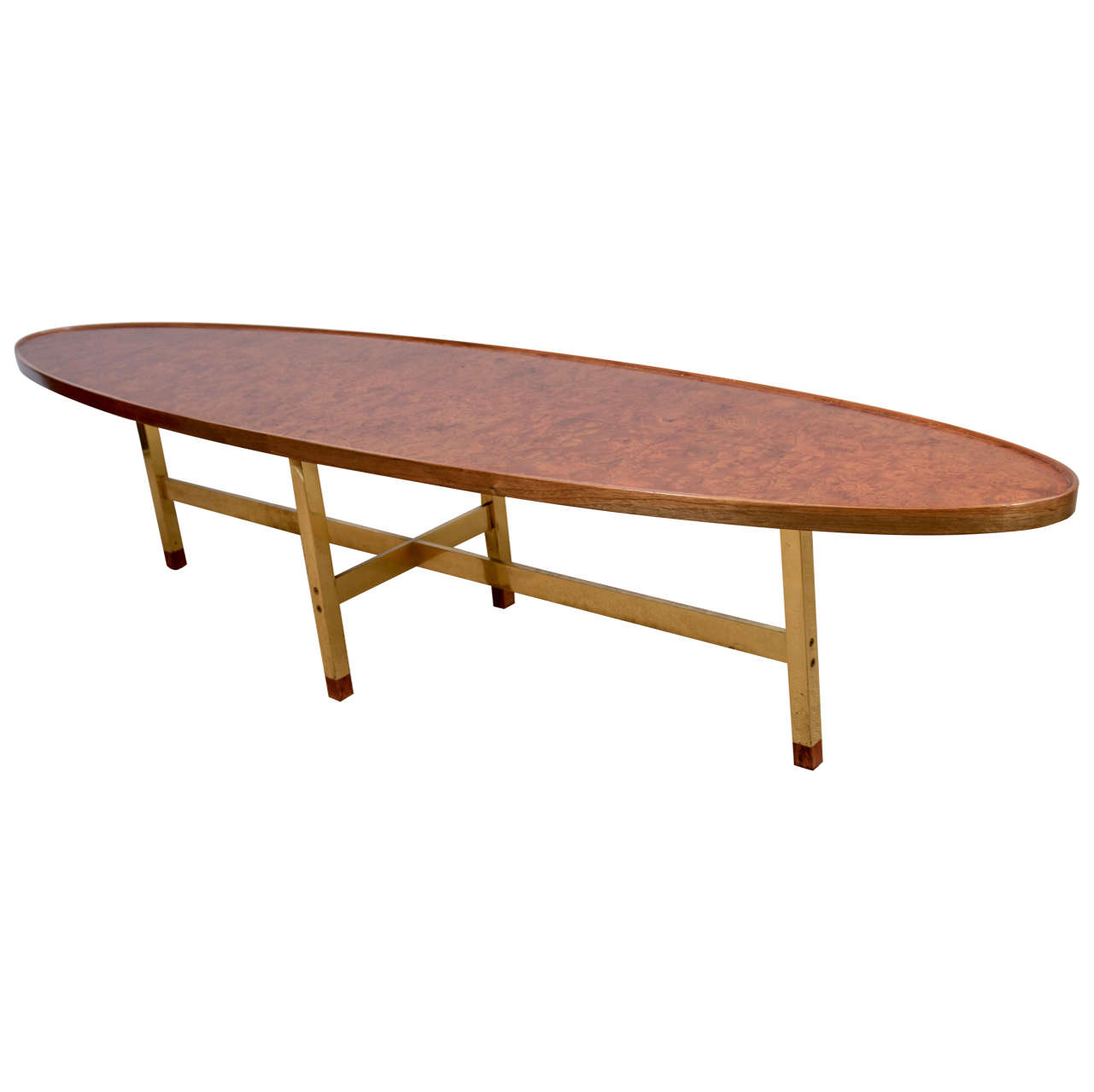 An Ed Wormley For Dunbar Elm Surfboard Coffee Table