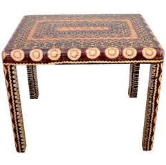 A Karl Springer 'Batik' Rectangular Table.