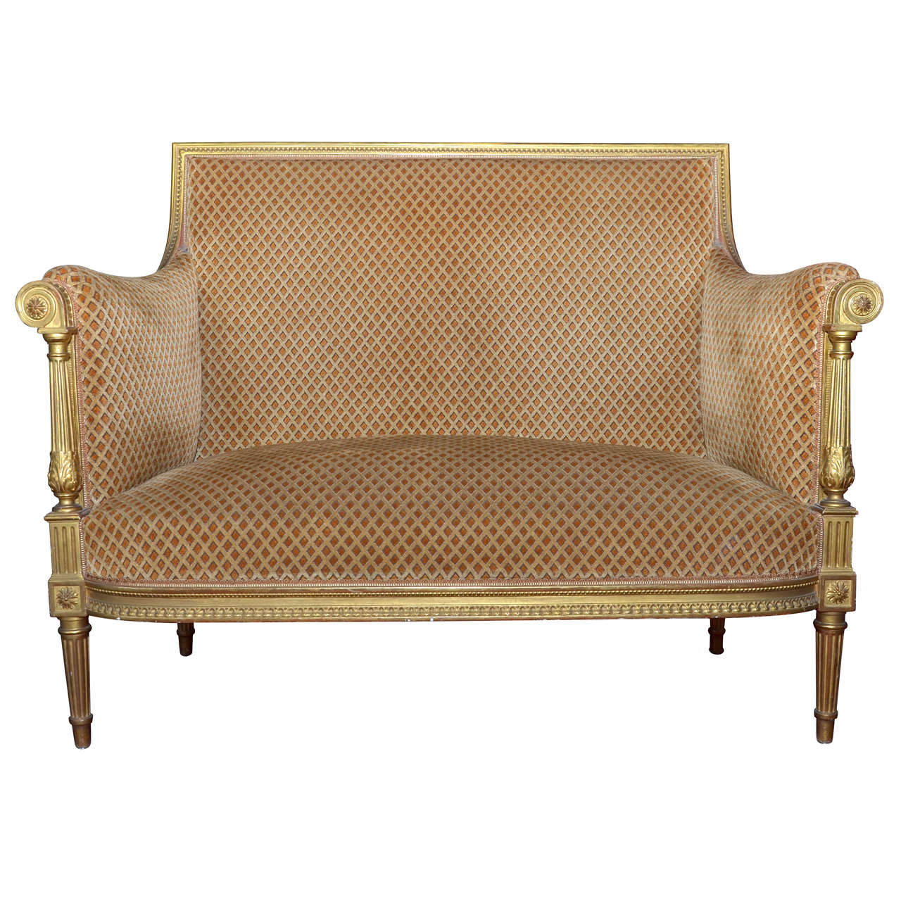 end of 19th century louis xvi style banquette at 1stdibs. Black Bedroom Furniture Sets. Home Design Ideas