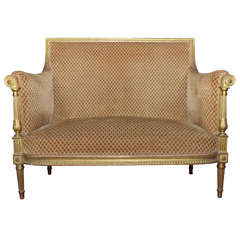 End of 19th Century Louis XVI Style Banquette