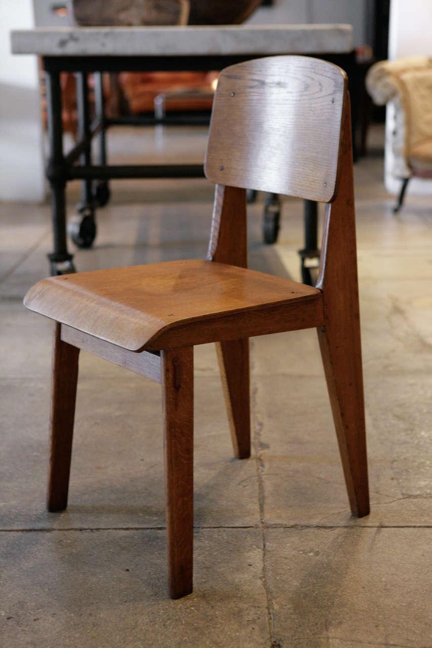 Jean prouve set of 4 39 chaise tout en bois 39 chairs ca 1941 at 1stdibs - Chaise jean prouve prix ...