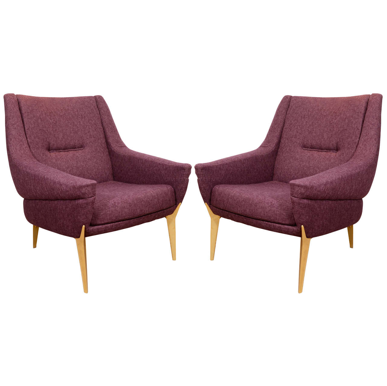 Pair Mid Century Bergeres At 1stdibs