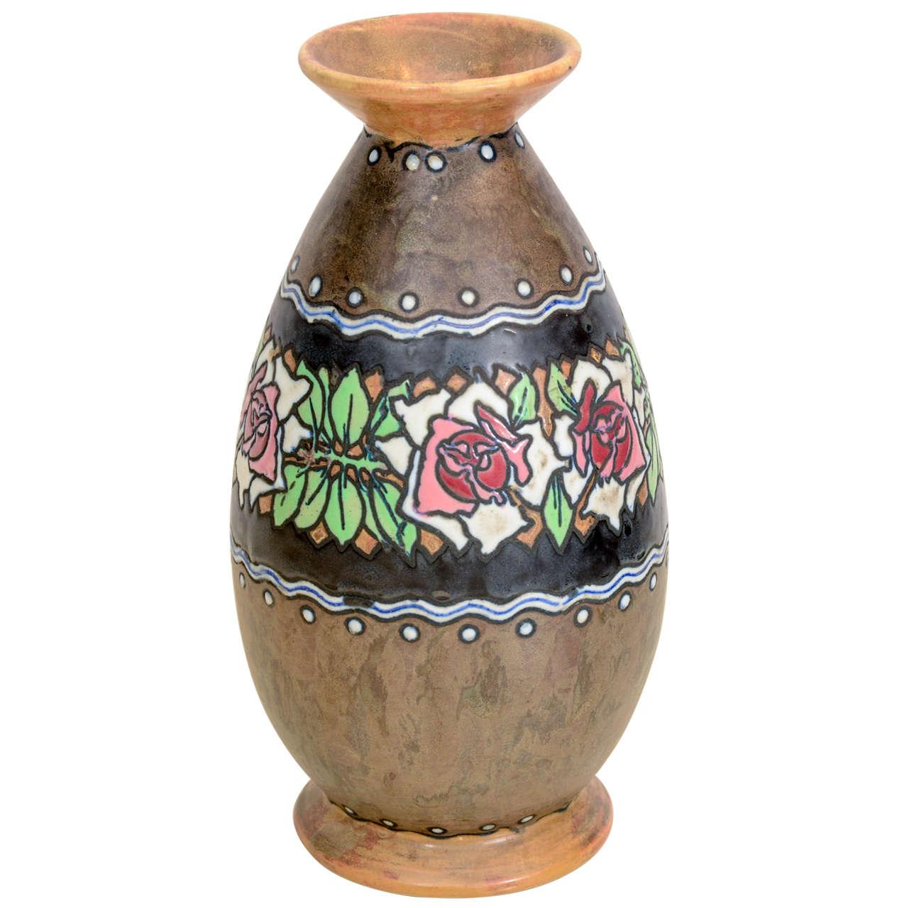 Boch Stoneware Vase