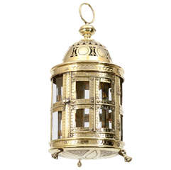 Pierced and Engraved Dutch Brass Lantern