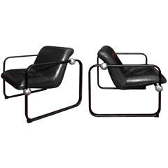 Two 1970s Armchairs by Marc Held