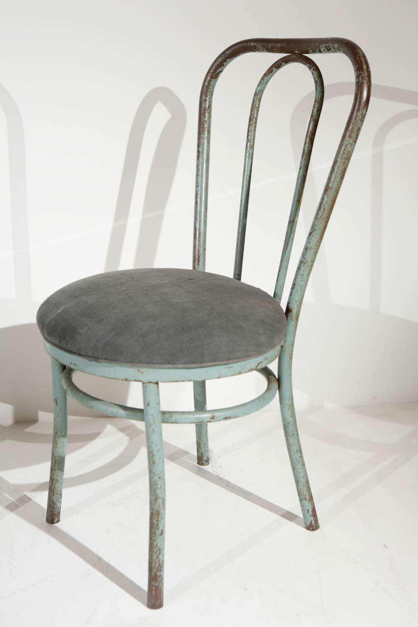 Pair Of Bent Metal Thonet Inspired Dining Chairs Image 3
