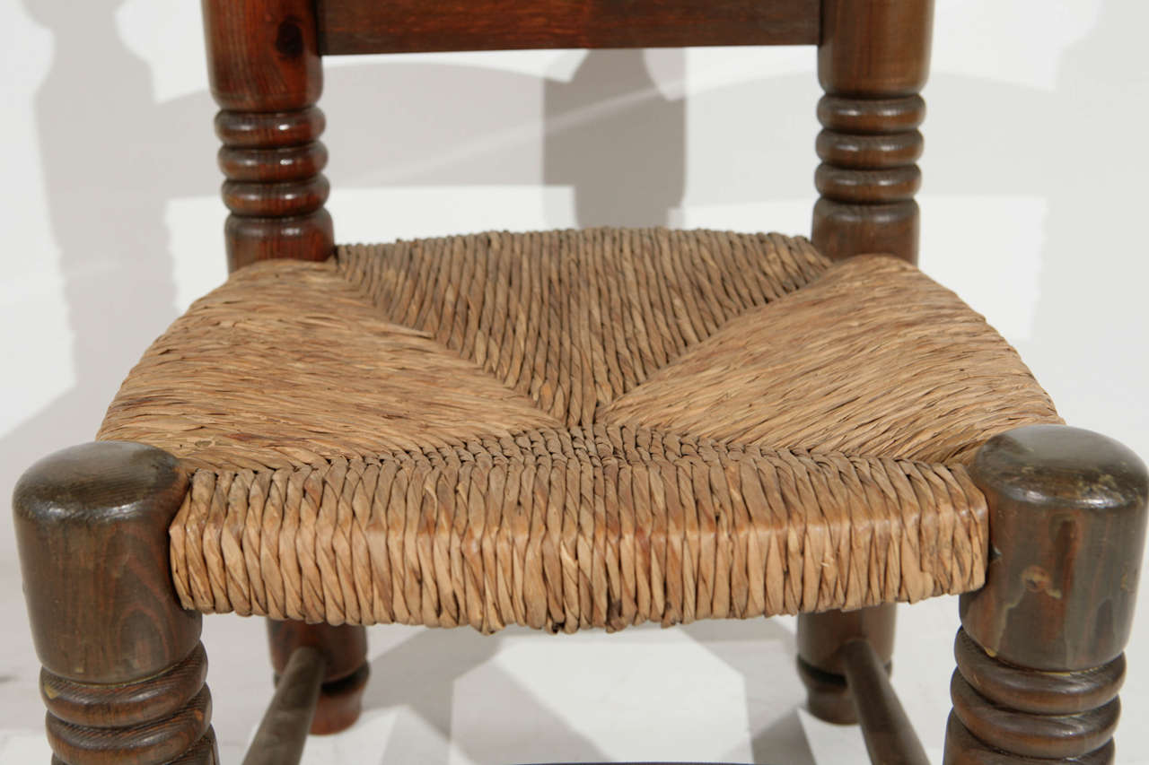 Wooden Fireplace Stools ~ Late th century wood and rush fireplace stools at stdibs